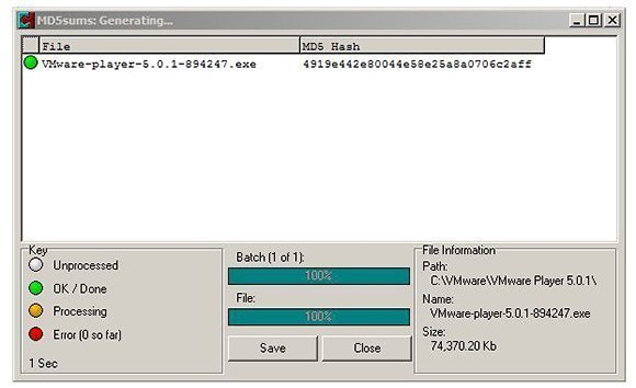 MD5Summer software verification