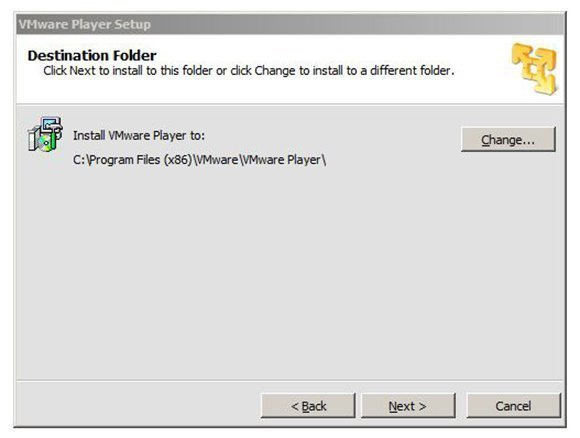 VMware Player 5 install path