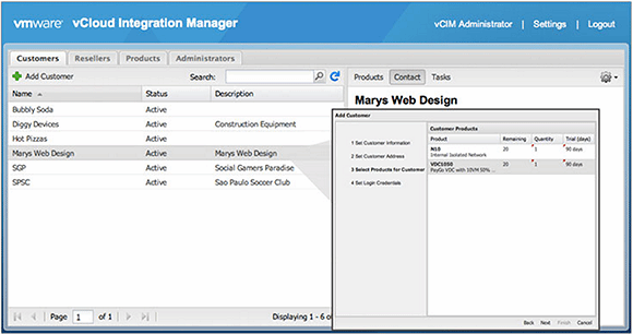 VMware vCloud Integration Manager administrator interface
