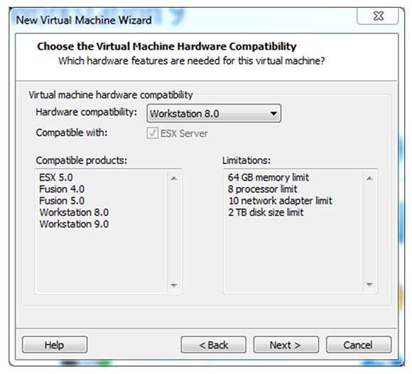 Make VMware VMs compatible with your Workstation version