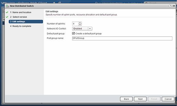 Create new vDS uplinks