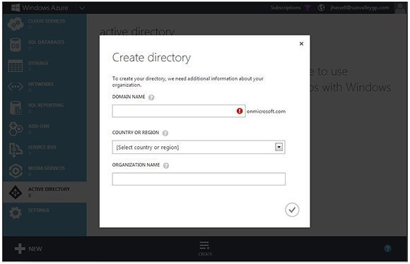 Create and manage instances of Windows Azure Active Directory