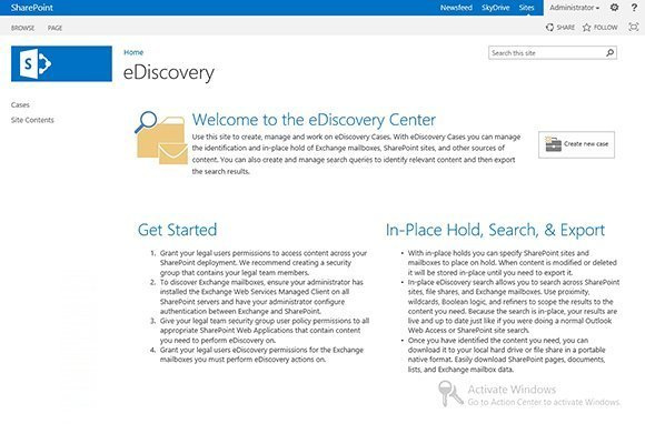 SharePoint eDiscovery Center