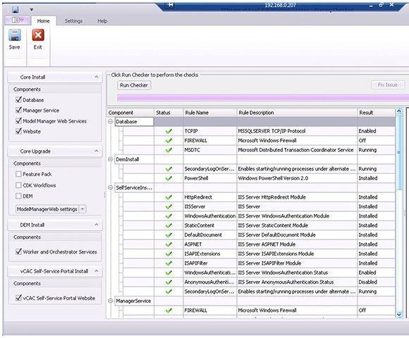 VMware vCAC prerequisite checker