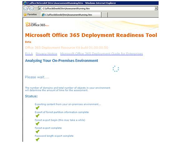 The Microsoft Office 365 Readiness tool will analyze your current environment