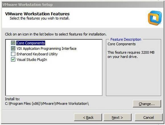 VMware Workstation Features.