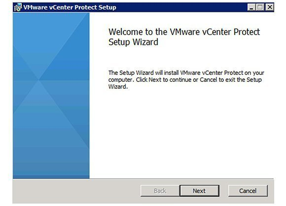vCenter Protect Installation Wizard