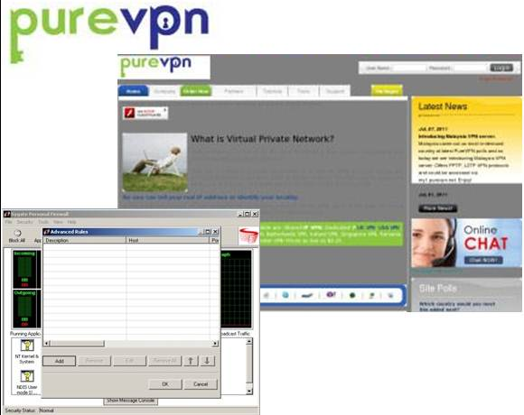 PureVPN screenshots