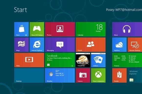 Windows 8 on ARM Metro interface