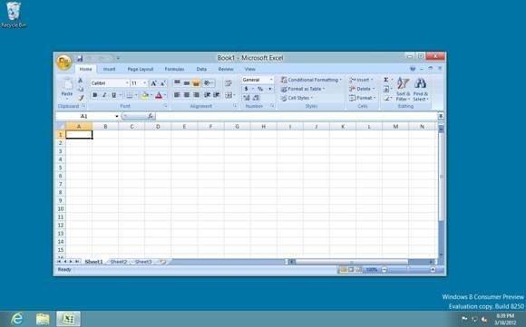 Windows 8 on ARM Desktop mode