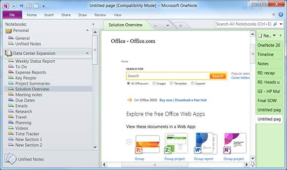 How microsoft onenote 2010 can improve productivity organization 7 pronofoot35fo Image collections