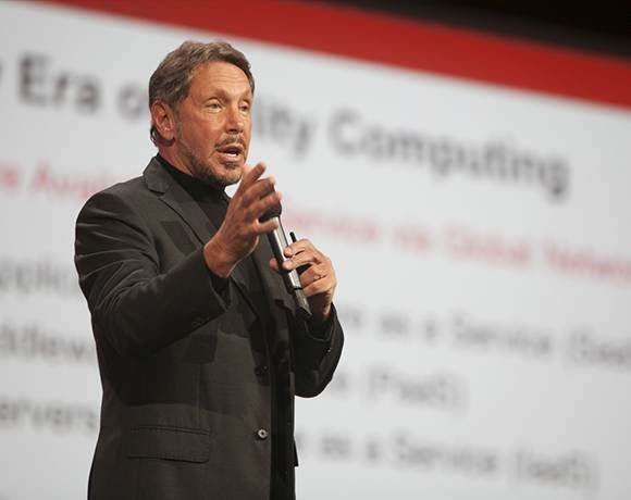 Oracle CEO Larry Ellison at Oracle OpenWorld 2012