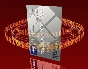 data encircling a credit card
