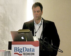 Robert Dayton of MainStream Analytics at Big Data TechCon 2014 in Cambridge, Mass.