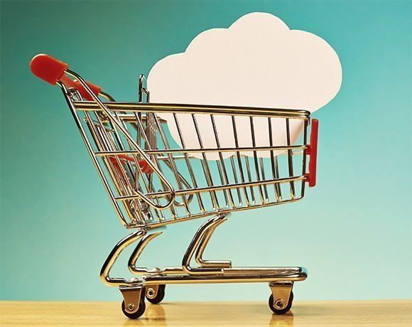 Cloud in shopping cart