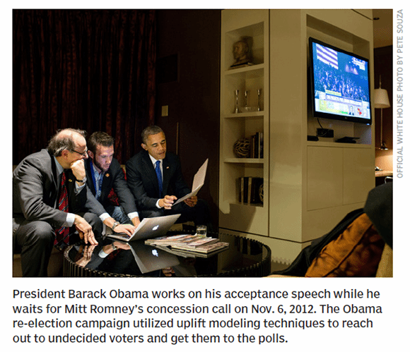 Obama's campaign utilized uplift modeling