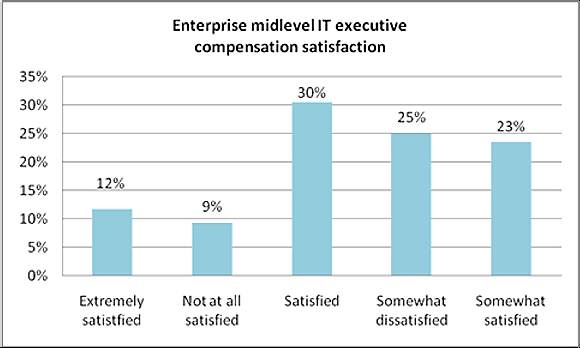 Enterprise midlevel IT executive compensation satisfaction