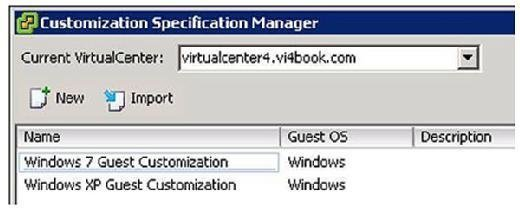 Customization Specification Manager