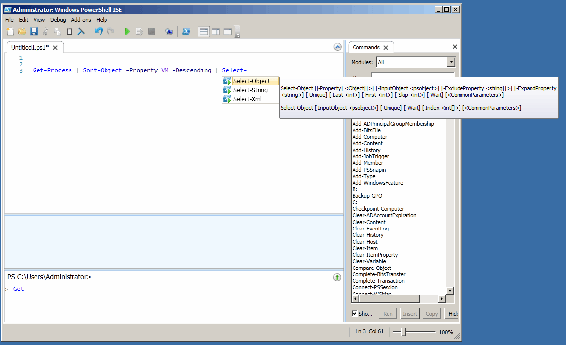Integrated scripting environment