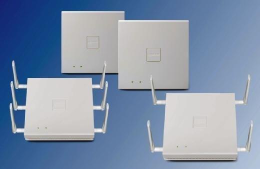Die vier neuen Access Points von Lancom.