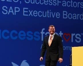 Lars Dalgaard at keynote for SAP Sapphire 2012