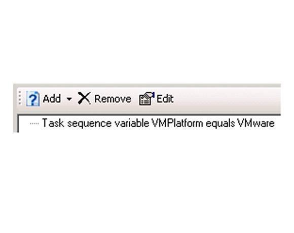 VMPlatform variable set for VMware