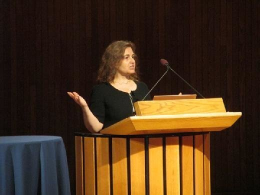 MIT roboticist Daniela Rus at the AI and the Future of Work conference.