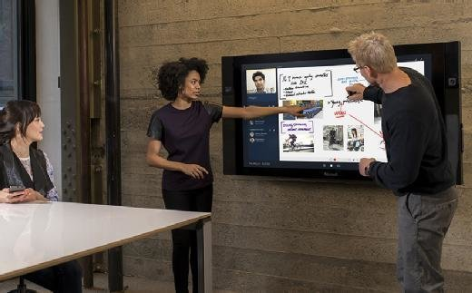Microsoft Surface Hub is a large screen collaboration device.