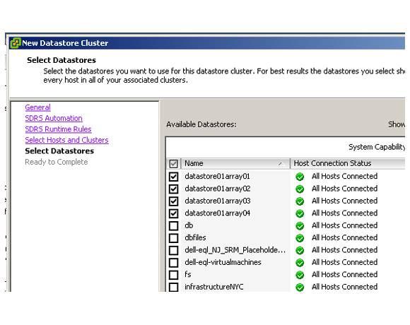 vSphere 5 Datastore Cluster