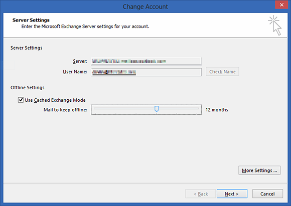 how to set outlook 2013 to work online