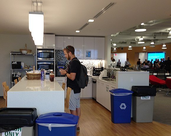 Kitchen at PayPal headquarters