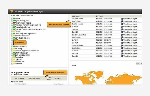 SolarWinds' Network Configuration Manager console