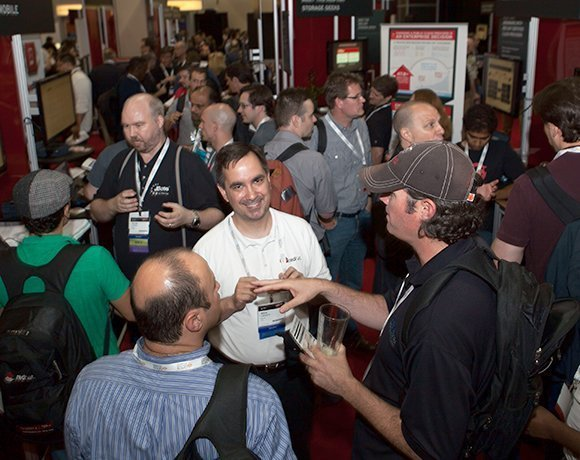 Red Hat Summit and JBoss World summit floor