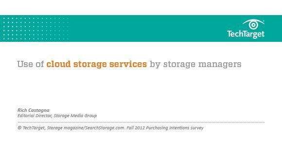 Fall 2012 presentation on cloud storage trends