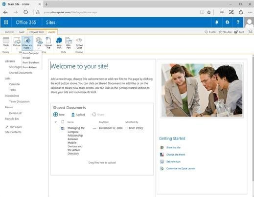Smc SharePoint Multimedia 01 mobile How to embed video with SharePoint Media Web Part
