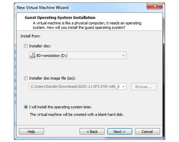 Install Windows 8 on VMware Workstation without Easy Install defaults
