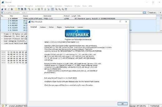 Wireshark 2.2.0 steht ab sofort zum kostenlosen Download bereit.