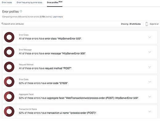 Screenshot of APM error messages