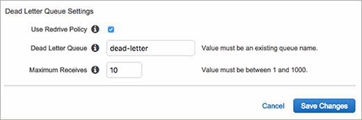 Developers can adjust settings for the Dead Letter Queue in Amazon SQS.