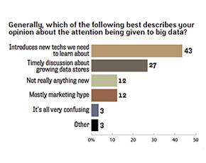 Opinions about attention given to big data