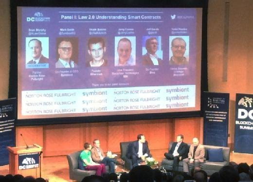 Smart contracts panel discussion at 2016 DC Blockchain Summit