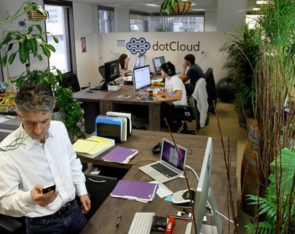 dotCloud employees working hard