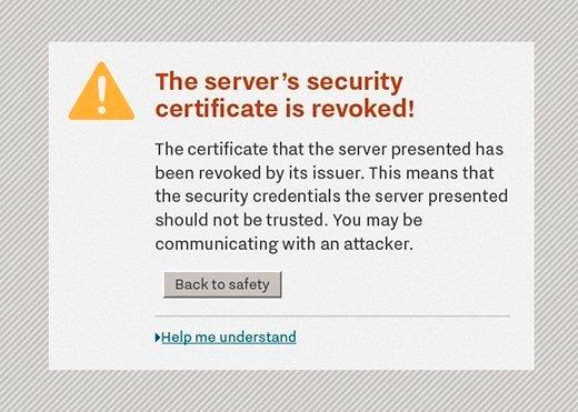 revoked certificate warning