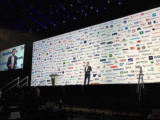 Pegasystems CEO Alan Trefler during his keynote address at PegaWorld 2017.
