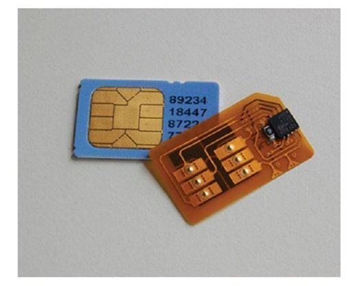SIM chips.