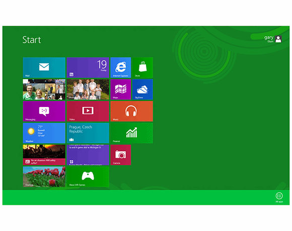 Figure 1: The Windows 8 Start menu splash screen