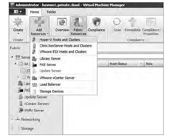 Adding a host or cluster to a trusted domain in VMM 2012