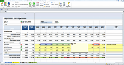 Image of Vena budgeting software