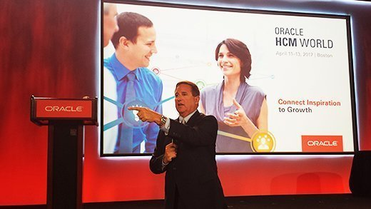 Oracle co-CEO Mark Hurd at Oracle HCM World in Boston.