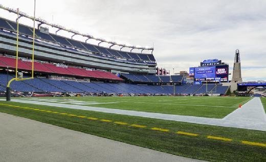Gillette Stadium, field level